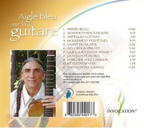 CD Aigle Bleu à la guitare. Verso
