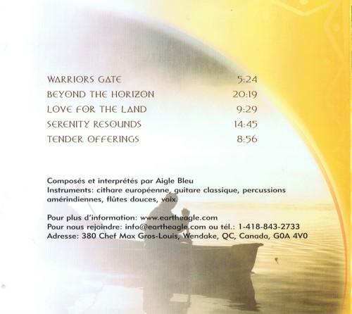 CD - Spirit songs - Aigle Bleu. Verso