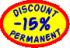 Discount 15% permanent