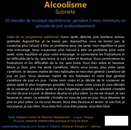 CD subliminal audio - Alcoolisme - texte