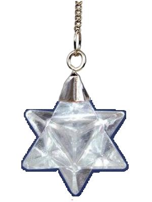 Pendule Merkaba en Cristal de roche
