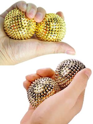 Boules magnétiques de réflexologie - avec picots - illustration 2