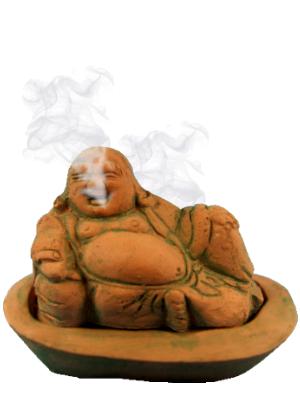 Brule encens Bouddha en pierre
