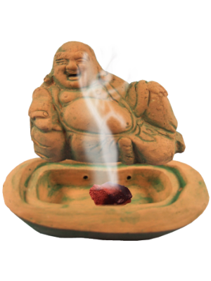 Brule encens Bouddha en pierre - illustration 2