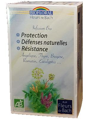 Infusion Bio aux Fleurs de Bach - Défenses naturelles, Protection, Résistance