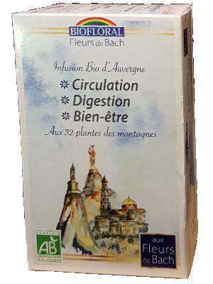 Infusion Bio aux Fleurs de Bach - Circulation, Digestion, Bien-être