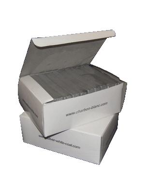 Charbon blanc - boite de 60 charbons