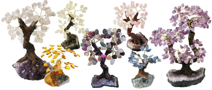 Bandeau Arbres de Vie en pierres et cristaux