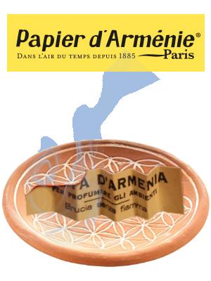 Papier d'Arménie sur coupelle