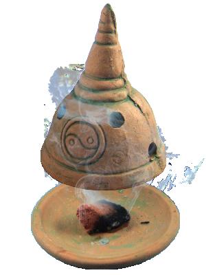 Brûle encens Yin Yang en Pierre de sable 2