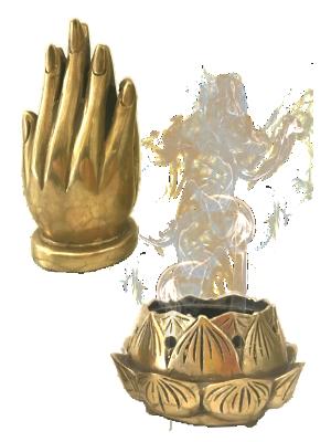 Encensoire main de Bouddha en bronze - illustration 2
