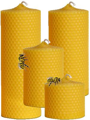 Bougie naturelle à la cire d'abeille - diamètre 5.5cm