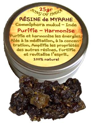 Résine de Myrrhe Mukul/Gugul - Boîte de 25 gr