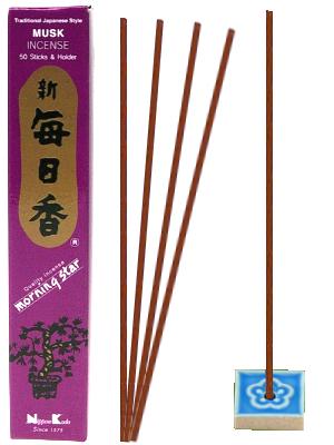 Encens Japonais Morning Star - MUSK - 50 bâtonnets