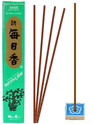 Encens Japonais Morning Star - SAUGE - 50 bâtonnets