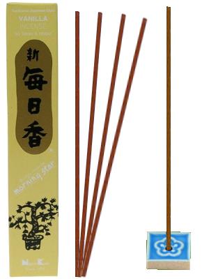 Encens Japonais Morning Star - VANILLE - 50 bâtonnets