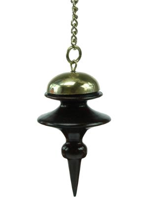 Pendule Tibétain en bois précieux et laiton poli